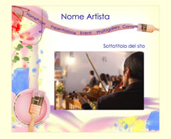 Layout template for artista colorato
