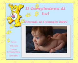 Layout template for compleanno bambina