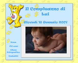 Layout template for compleanno bambino