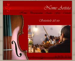 Layout template for musicista classico